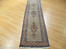 10 Feet Runner Persian Tabriz Intricate Hand-made-knotted Rug Wool 580711