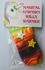Magical Unicorn Knitted Willy Warmer ~ Adult Rude Novelty Gift