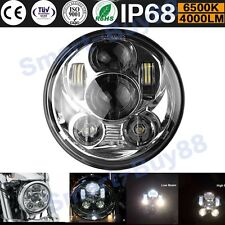 "Motorcycle 5.75"" 6 LED Projector Headlight Lamp for Harley Sportster XL 1200 883"
