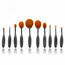 Professional Artist Make-Up Brushes Toothbrush Shape Oval Puff Brush Set -10 Pcs