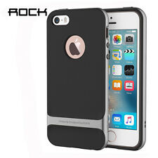 ROCK Phone Cover Case Slim Armor PC+TPU Case For iphone 5/5s/se-Iron Gray