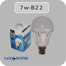7W LED B22 bayonet CAP LIGHT BULB 560 LUMENS COOL WHITE Great Bargain