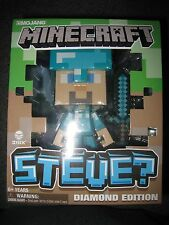 NIP MINECRAFT 6 INCH STEVE DIAMOND EDITION FIGURE WITH SWORD I SHIP EVERYDAY