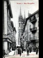 VOIRON (38) COMMERCES , Rue MONGOLFIER trés animée début 1900