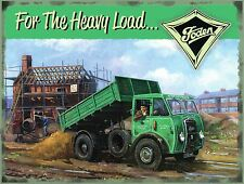 Foden Truck Lorry Wagon Tipper Vintage Advert Garage Old Large Metal/Tin Sign