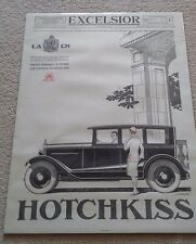 Genuine French Excelsior Hotchkiss advertising poster/print, cars, garage