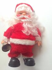 BATTERY OPERATED Musical WALKING SANTA CLAUS In Box Broken For Display Or Parts