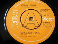"GORDON HASKELL - PEOPLE DON'T CARE  7"" VINYL DEMO"