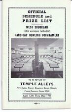 1953 TEMPLE ALLEYS Cutiss Street DOWNERS GROVE Illinois FRED McCLASKEY