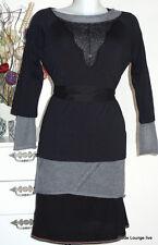 Vive Maria Baumwolle Shirt Tender Love XL 42 black schwarz Spitze