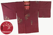 Kimono Haori Japonais MADE IN JAPAN AUTHENTIQUE NEUF NEW SOIE SILK CHIRIMEN