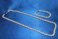 Pink Pearl 22 Inch Necklace and 7 Inch Bracelet Set with 14k Yellow Gold Clasps