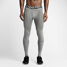 NWT Men's Nike Pro Cool Men's Training Tights Heather Gray/Black S