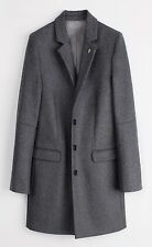 ZADIG & VOLTAIRE m UK10 US6 FR38 IT42 en laine gris mezzo tailored top coat