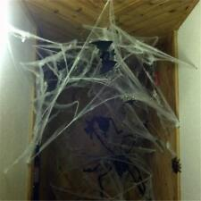 Halloween Stretchable Fake SPIDER WEB +2 Spiders Cotton Trick Party Home Decor #