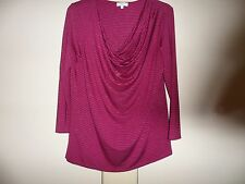 CC long sleeved red striped top size M cowl neck new