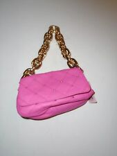 Juicy Couture Quilted Passionfruit Pink Leather Bag w/ Gold Oversized Chain
