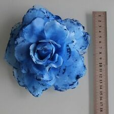 Large Blue Flower Hair Clip Band Belly Dancing Accessories AA19BL