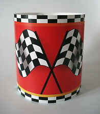 Children's Boys Grand Prix Chequered Flag Racing Car Light Lamp shade