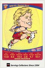 2011 AFL Teamcoach Cards Magic Wild Card MW2 Daniel Rich (Brisbane)