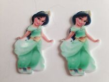 Princess Jasmine Toddler Flat Back Resin-Cabochon-Plastic-Hair Bow Center