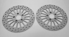 """2000'-2007' HD 11.5"""" FRONT BRAKE ROTORS BIG TWIN FLH WITH CHROME MOUNTING BOLTS"""