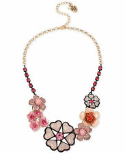 Authenic New Betsey Johnson Gold-Tone Multi-Flower Collar Necklace