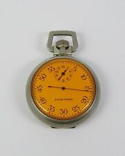 WWII 1942 US Navy Elgin Timer Bombing Timer Stopwatch Amber Crystal