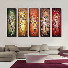 5PC Hand-painted Wall Decor Art Abstract Oil Painting Canvas,Music(No Frame)
