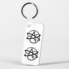 Atheist Symbol Atomic Whirl Atheism Rutherford Atom with Circle Key Ring