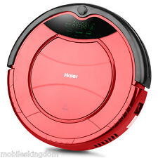 Haier Smart Vacuum Cleaning Robot Microfiber Sweeping Machine Remote Control Red