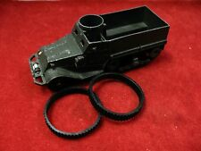 French Dinky Treads for  822 M3 Half-Track,  Black Rubber Tracks, Pair