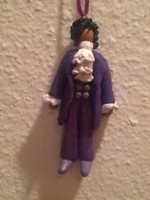 PRINCE PURPLE RAIN Christmas Ornament Hand Sculpted Polymer Clay OOAK