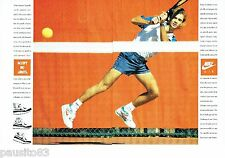 PUBLICITE ADVERTISING 116  1989  Nike Air baskets  (2p) André Agassi