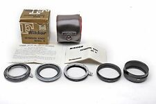 Nikon Extension Rings Model K Macro Micro 5-Extension Tube SET+Case+Boxed+BEAUTY