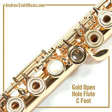 Flute - Gold Lacquer with Open Holes and C Footjoint - Masterpiece