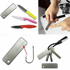 Pocket Outdoor EDC Tools Diamond Stone Steel Sharpener Keychain For Fish Hook