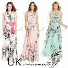 UK Womens Celeb Sexy Floral Long Maxi Dress Ladies Summer Beach Party Sun Dress