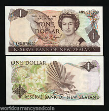 NEW ZEALAND $1 P169C 1989 QUEEN ORIGINAL*BUNDLE* BIRD CURRENCY MONEY 1000 NOTES