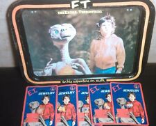 Vintage 1980s E.T. Extra-Terrestrial TV Tray/Serving/Lap Tray Metal Plus More!!!