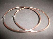 CLIP ON COPPER ROSE GOLD EARRINGS 6CM LARGE HOOPS EARRINGS HOOPED NON-PIERCED