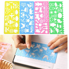 4PCS/Set Fun Plastic Children Drawing Template Spirograph Toy Stencil Ruler DIY