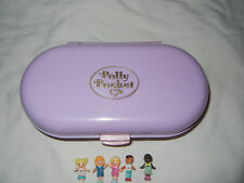 1992 Bluebird Polly Pocket School House Stamper Playset Compact w/figures - Rare