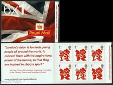 2012 VISION QUOTE LONDON OLYMPICS DEFINITIVE BOOKLET 6 x 1st Class Non Cyl MB9