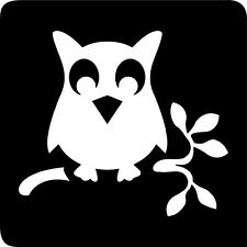FG107 - 5 x OWL STENCIL for Glitter and Ink Tattoo's