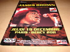JAMES BROWN - CONCERT!!!!!!!!!!!!!!!FRENCH PRESS ADVERT