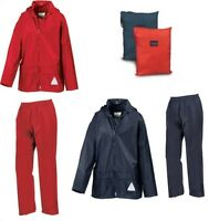 Kids Result Waterproof Jacket & Trousers Rain Suit Rainsuit Childrens Boys Girls