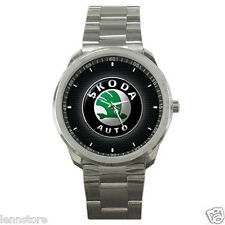 Skoda Auto Automobile manufacturer Logo Sport Metal Watch