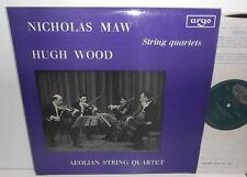 ZRG 565 Nicholas Maw & Hugh Wood String Quartets Aeolian Quartet Grooved Oval