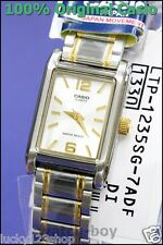 MTP-1235SG-7A Gold Casio Men's Watch Stainless Steel Band Brand-New Analog New